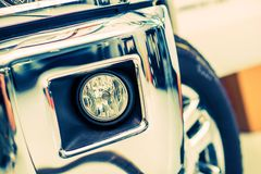 Alogeno dei fari antinebbia dell'automobile Fotografia Stock Libera da Diritti