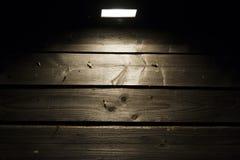 Alogeno sulla parete di legno Fotografia Stock