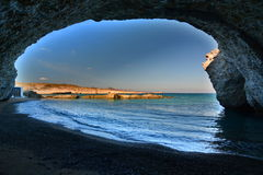 Alogomandrastrand Milos De eilanden van Cycladen Griekenland stock fotografie