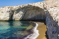 Alogomantra beach at Milos island, Cyclades, Greece Royalty Free Stock Photos