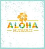 Aloha της Χαβάης δημιουργικό στοιχείο σχεδίου θερινών παραλιών τροπικό διανυσματικό Στοκ Εικόνες