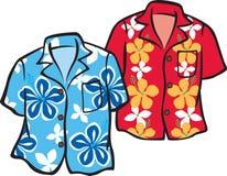 aloha гаваиские рубашки пар Стоковая Фотография