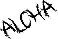 Aloha иллюстрация знака текста стоковое фото