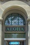 Aloha arco Fotografia Stock
