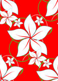 aloha background hawaiian red 库存例证
