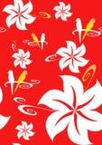 aloha bezszwowa hawajczyk czerwień Obraz Royalty Free
