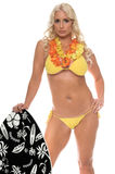 Aloha Bikini Girl Royalty Free Stock Photography