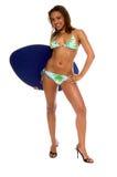 Aloha Bikini Girl Stock Photo