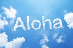 Aloha cloud word Royalty Free Stock Photo