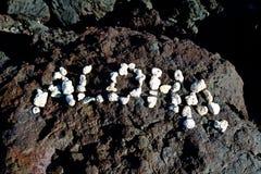 Aloha dalla grande isola Fotografia Stock Libera da Diritti