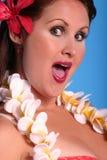 aloha flicka arkivfoton
