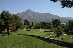 Aloha golf course. Marbella, Spain Stock Photos