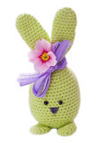 Aloha green handmade easter bunny Stock Photo