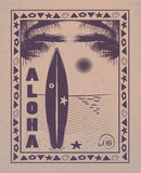 aloha hawaii Arkivbild