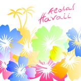 Aloha Hawaii Background Royalty Free Stock Images