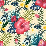 aloha Hawaii bezszwowy deseniowy royalty ilustracja