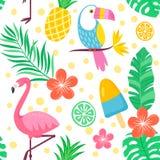 aloha Hawaii bezszwowy deseniowy ilustracja wektor