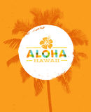 Aloha Hawaii Creative Summer Beach Tropical Vector Design Element.  royalty free illustration