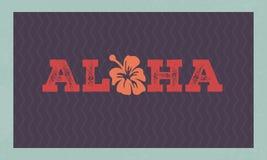 Aloha hawaii floral t-shirt print. Summer paradise phrase.  Royalty Free Stock Photography