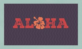 Aloha Hawaii koszulki kwiecisty druk Lato raju zwrot ilustracji