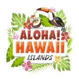 Aloha Hawaii-sticker stock illustratie