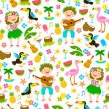 Aloha hawaiisches nahtloses Muster Lizenzfreies Stockfoto