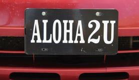 ALOHA, hawaiisches Wort für hallo, Auf Wiedersehen, Frieden u. Liebe Lizenzfreies Stockfoto