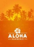 Aloha Hawaje lata Kreatywnie plaży projekta Tropikalny Wektorowy element ilustracja wektor