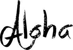 Aloha ilustração do sinal do texto Imagens de Stock Royalty Free