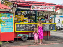 Aloha Juice Bar in Hanalei Immagine Stock