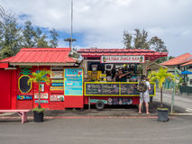Aloha Juice Bar in Hanalei. KAUAI, USA - MAR 4: Aloha Juice Bar on March 4, 2017 on Kauai, Hawaii. Hanalei is one of the most popular tourist areas on the island Stock Image