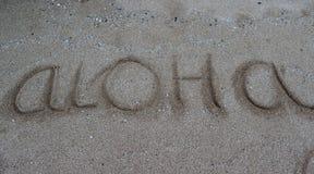 Aloha l'Hawai Immagine Stock
