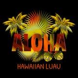 Aloha l'Hawai Aloha progettazione della maglietta Fotografie Stock