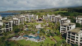 Aloha from maui,hawaii-the most modern resort montage kapalua with beautiful tropical nature stock video