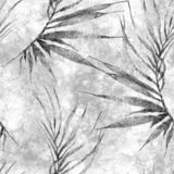Aloha modelo incons?til hawaiano Palma curvada acuarela ilustración del vector
