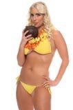 Aloha ragazza del bikini Fotografie Stock Libere da Diritti
