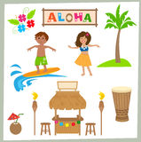 Aloha Set Stock Photo