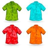 Aloha Shirts havaiana. Ilustração do vetor Fotos de Stock Royalty Free