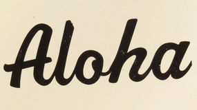 Aloha Sign Fotografie Stock
