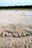 aloha spiaggia Immagine Stock Libera da Diritti