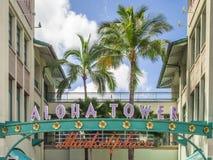 Aloha stå hög marknadsplatsen Royaltyfria Bilder
