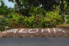 Aloha sull'isola di Molocai immagine stock