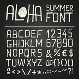 Aloha Summer Hand Drawn Font - Chalkboard Royalty Free Stock Photos