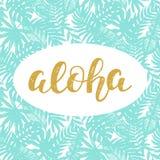 Aloha Summer-het van letters voorzien royalty-vrije illustratie