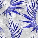 Тропическая безшовная картина Ладонь изогнутая акварелью иллюстрация штока