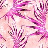Тропическая безшовная картина Ладонь изогнутая акварелью бесплатная иллюстрация