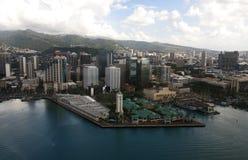 Aloha torre Vista aérea Oahu Imagen de archivo