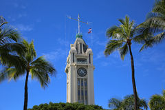 Aloha Tower. In downtown Honolulu, Oahu, Hawaii royalty free stock photography
