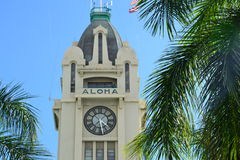 Aloha Tower. The iconic Aloha Tower in Honolulu Royalty Free Stock Photos