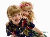 Aloha Twins! Stock Image